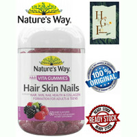 Nature's way Adult vita gummies Hair skin nails 60 pastilles