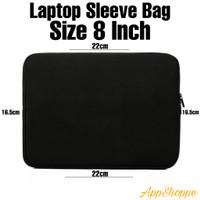 Tas Laptop Case Sleeve Neoprene Zipper Softcase Laptop 8inch