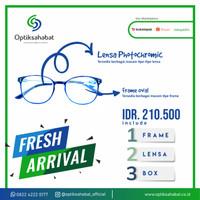 Kacamata Frame Oval + Lensa Photochromic