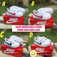 Sepatu Anak Nike Cortez Perekat /Tali Best Saller Sneakers Anak