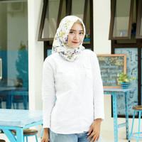 Kemeja Putih Wanita Panjang Baju Kerja Atasan Wanita Formal
