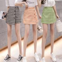 8290 Bestie Skirt/Korean Mini Skirt/Rok Pendek/Motif KotakKotak Korea