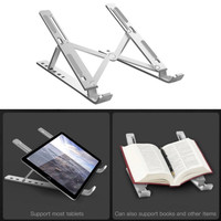 Laptop Stand Holder Dudukan Tablet Aluminium + Gratis Pouch
