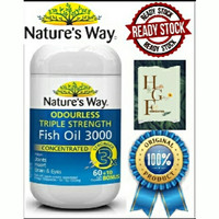 Nature's way Odourless Triple strenght fish oil 3000mg 70cap