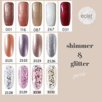 kutek gel murah glitter eclat / gel polish sale / kutek UV gel 15ml