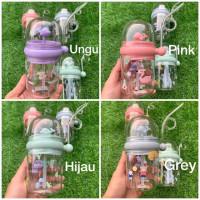botol minum anak air mancur motif animal childrens pot