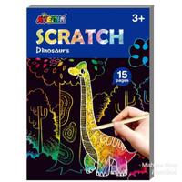 AVENIR Scratch Dinosaur Mainan Kerajinan Gambar Tangan Anak