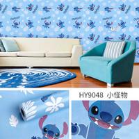 Wallpaper Sticker Dinding Karakter Stitch Biru