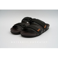 Sandal Casual Pria By Welvaart - WW 2 Webbing Black