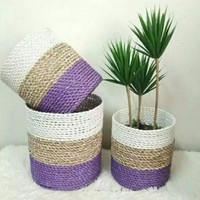 Cover pot / cover enceng gondok/ pot anyaman/ pot cover