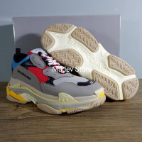 balenciaga triple s grey red gris rouge premium quality