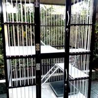 kandang kucing aluminium 2 tingkat - batu2