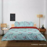 King Rabbit Bedcover Single 160*230, Motif Flamingo