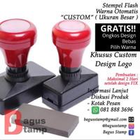Stempel Warna Otomatis Flash Custom ( Ukuran Besar )