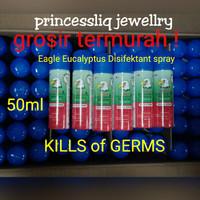 Cap Lang Eagle Aroma Eucalyptus Disinfektant Spray 50ml *NO CFC*Grosir