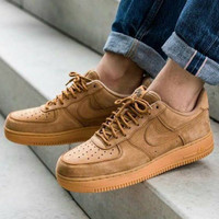Sepatu Nike Air Force 1 Low Wheat Flax Brown - Premium Import