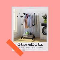 stand hanger double pole baju