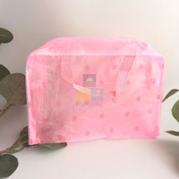 POUCH TRANSPARAN Tas Make Up Kosmetik Toiletries Serbaguna Waterproof