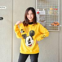 Sweater Wanita Mickey Free Mask - Mustard
