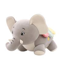 Boneka Gajah Lucu Cute Elephant Doll Toys - Abu-abu 22cm