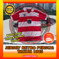 Jersey Persija Jakarta Retro tahun 1985 Bola