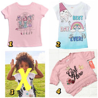 Kaos anak perempuan 4tahun garanimals baju anak santai branded
