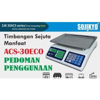SOJIKYO Timbangan Digital Price Computing Scale Cap.30Kg TYPE ECO 30AC
