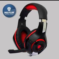 Rexus F55 Headset Gaming Vonix with mic LED-F55 -Merah