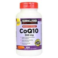 Kirkland Coq10 300mg - 100 Softgels Coenzyme Q10 Kirkland Signature
