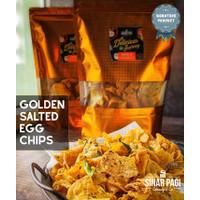 Golden Salted Egg Potato Chips ( Keripik Telur Asin Sinar Pagi )