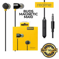 Headset Realme Buds In-Ear Earphone Handsfree Magnetic Original RM101