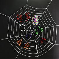 Sarang Laba Laba Spider Web Putih Hitam Dekorasi Seram Pesta Halloween