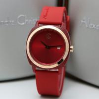 Jam Tangan Wanita Alexandre Christie AC 2763 Rosegold Red Original