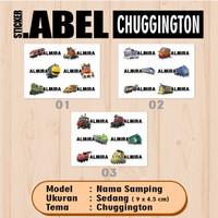 Sticker Label Nama Bawah Karakter Kereta Chuggington Waterproof