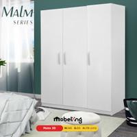 Mobeliving - Furniture Lemari 3 Pintu Full Putih Simple