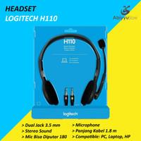 Headset Logitech H110 Jack 3.5mm Stereo Headphone Laptop - PC - HP
