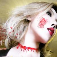 Kalung Darah Kostum Halloween Cosplay Blood Drip Necklace Choker darah