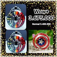 Paket Kalung Pendant Spiderman Spiderman Marvel Captain America