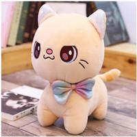 Boneka Kucing Lucu Cute Cat Dolls - Putih 25cm