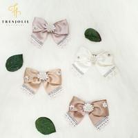 Satyna Bow VARIANT 2 (Handmade Pita Hairclip, Bando & Baby Headband) - Vanilla, Hairclip