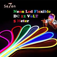 Lampu LED Neon Flex LED Strip Flexible 5 Meter DC 12V IP65 WATERPROOF