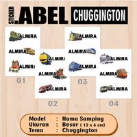 Sticker Label Nama Samping Karakter Kereta Chuggington Waterproof