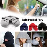 Travel Hoodie Nack Pillow Bantal Leher Travel Topi Hoodie Tutup Kepala