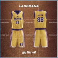 Threepoint Jersey Basket NBA LAKERS Setelan Keren