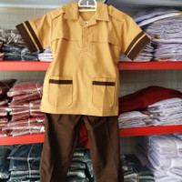 Seragam Pramuka Siaga SD Pasangan Baju Pramuka dengan Celana Panjang.