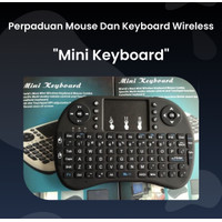 Mini Keyboard Original / Perpaduan Mouse dan Keyboard Wireless