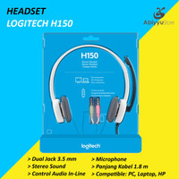 Headset Logitech H150 Jack 3.5mm Stereo Headphone Laptop - PC - HP