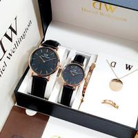 Jam Tangan Couple DW Tanggal Paket Aksesoris DWP-15