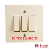 Saklar Triple Inbouw Broco, Saklar Seri 3 IB Broco