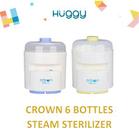 Crown 6 Bottles Electric Steam Sterilizer Alat Steril Botol - Bubblewrap